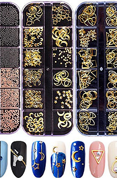 Nail-Micro-Caviar-Beads-3D-Nails-Supply-Studs-Gold-Nail
