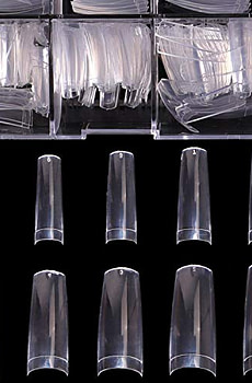 Clear Acrylic Nail Tips - French Nail Tip BTArtbox 500pcs Fake Nails Half Cover False Nail with Case for Nail Salons and DIY Nail Art, 10 Sizes