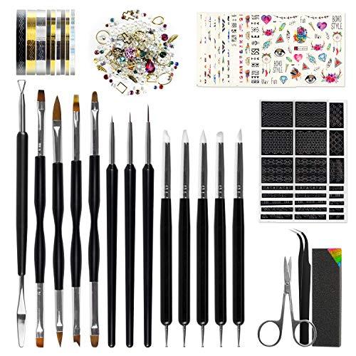 Nail-Art-Tools-Fashion-Design-8-Size-Painting-Brushes