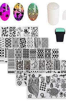 AIMEILI-Nail-Art-Stamping-Templates-Manicure-Tool-Kit-5pcs-Nail