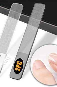 Glass Nail Shiner - 2PC Upgrade Nano Nail Buffers Glass Nail File Crystal Shine Polisher for Natural Nails, DR. MODE Professional Manicure Tools Kit for Acrylic Nail Care