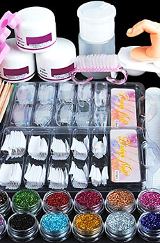 Coscelia-Acrylic-Powder-Glitter-Nail-Art-Kit-False-Nail-Tips