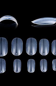 Fake Nails 1200pcs diy nail art 10 Sizes Fake Nails Short Oval Nails Round Nails Full Cover Artificial Glue On Nails Natural/Clear/White The acrylic nail (Oval Clear)