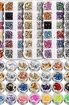 5-box-11440pcs-Nails-Rhinestones-and-36-Pots-Foils-Flakes