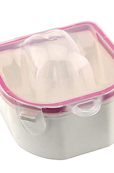 Rolabling 2 PCS Soaking Soak Bowl Nail Art Polish Remove Wash Soaker Tray Manicure Spa Tool