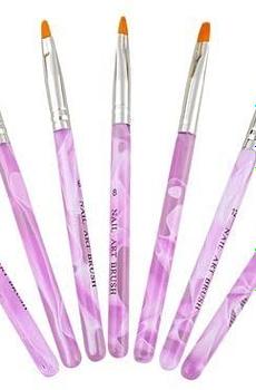 ZXUY 7pc UV Acrylic Nail Art Tips Builder Brush Pen