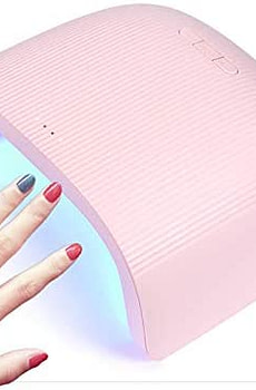 Gel UV LED Nail Lamp,Lumcrissy Portable 48w Nail Dryer for Gel Nail,Nail Polish Curing Lights, Nail Art Manicure Tools,for Fingernails and Toenails, Home and Salon,with Auto Sensor