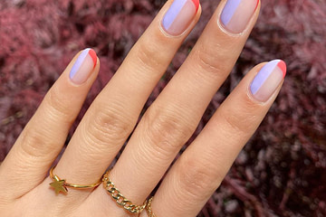 Collaborated with @orosabeauty to create this french manicure with a TWIST